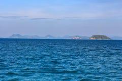 Wate. Sea Sky Water Ship Ultramarine Lsland royalty free stock image