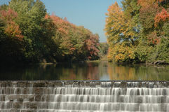 Watefall in New england. Foliage and Waterfall in small New England town Royalty Free Stock Photo