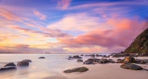 Wategoes-Strand, Byron Bay, NSW, Australien Stockbilder