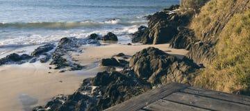 Wategos strand i Byron Bay Royaltyfri Foto