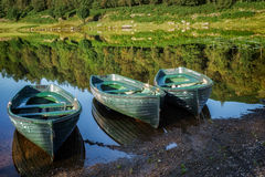 WATENDLATH, CUMBRIA/UK - AUGUST 31 : Rowing Boats Moored at Wate Stock Images