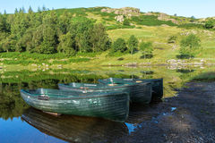 WATENDLATH, LAKE DISTRICT/ENGLAND - AUGUST 31 : Rowing boats moo Stock Image