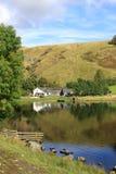 Watendlath och Tarn, Lake område, Cumbria. Arkivbild
