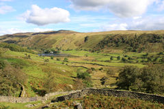 Watendlath from path to Dock Tarn, Lake District Royalty Free Stock Photos