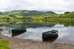 Watendlath Tarn Jeziorny Gromadzki Cumbria Anglia UK Zdjęcie Royalty Free