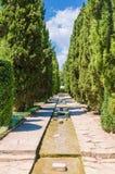 Water Ð¡anal. In The Botanical Garden. Balchik, Bulgaria royalty free stock image