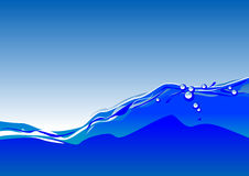 Water. Abstract vector illustration of water against a blue sky Royalty Free Stock Photography
