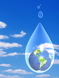 Water. Preservation of stocks of water in the nature vector illustration