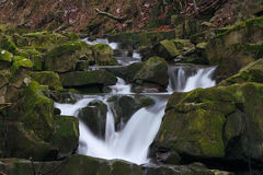 Water 12. Waterfall at mountains - Beskidy -Poland Royalty Free Stock Images