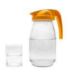 Water. Jug, glass with water on a white background Royalty Free Stock Image
