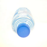 Water. Plastic bottle with water, seen from the front, isolated on white Royalty Free Stock Photo