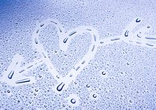 Water. Drops on Valentine's Day Royalty Free Stock Photo