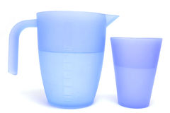 Water. Cup and jug of water Royalty Free Stock Image