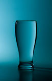 Water. Glass of pure water in a blue tone stock photo