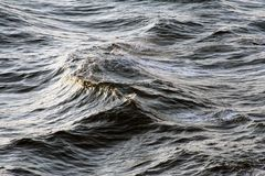 Water. Everywhere big waves Royalty Free Stock Images