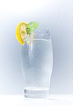 Water. A refreshing glass of water, decorated with lemon Stock Image