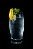 Water. A refreshing glass of water, decorated with lemon Royalty Free Stock Photography