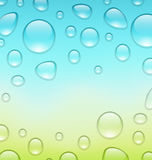Water abstract background with drops, place for your text Stock Photography