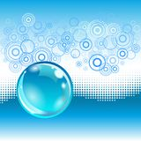 Water abstract background with bubble. Water abstract background with glossy bubble and dotted effect Stock Photo
