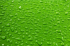 Water abstract. Dew on the green background Royalty Free Stock Images