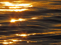 Water abstract 4. Water abstract, sunset on ocean Royalty Free Stock Image