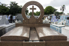 Water accumulated in Rio Cemeteries can increase Zika Virus cases Stock Photos