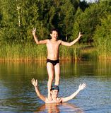 Water Acrobats Royalty Free Stock Photos