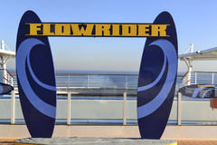 Water Activity  Flowrider  Cruise Ship. Entrance to a water activity on board a Royal Caribbean Cruise Ship come and join the fun Royalty Free Stock Photography