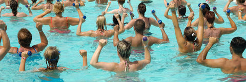 Water Aerobic 1:3 Royalty Free Stock Photography