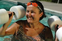 Water aerobics royalty free stock photography