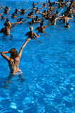 Water aerobics class Royalty Free Stock Photo