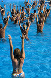 Water aerobics class Royalty Free Stock Image