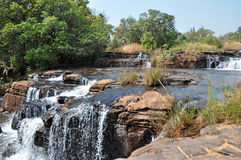 Water in the African heart. A beautiful waterfall in the heart of Africa, where water mean life Stock Photography