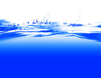 Water. And air bubbles over white background Royalty Free Stock Image