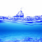 Water. And air bubbles over white background Stock Photography