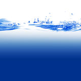 Water. And air bubbles over white background Royalty Free Stock Photography