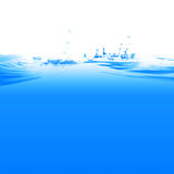 Water. And air bubbles over white background Stock Photo
