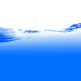 Water. And air bubbles over white background Stock Photos