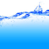Water. And air bubbles over white background Stock Images