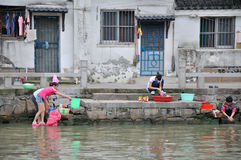Water alley at suzhou Stock Image