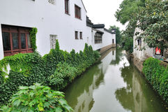 Water alley at suzhou. The ancient city of Suzhou is the famous Jiangnan water, city water staggered in Hong Kong, street aspect, the late Tang Dynasty poet Du Stock Photography