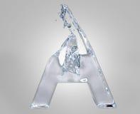 Water alphabet. 3d image of water alphabet stock illustration