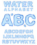 Water alphabet. Letters set on white background Royalty Free Stock Image