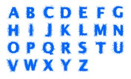 Water alphabet. Capital letters Stock Photography