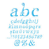 Water alphabet Lower Case Italic Stock Photo