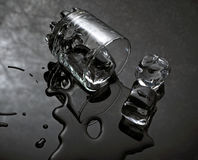Water & Ijs Royalty-vrije Stock Afbeeldingen