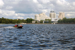 The water area of the city pond in Yekaterinburg Royalty Free Stock Image
