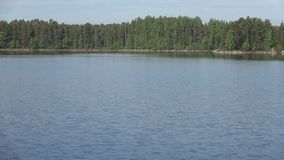 The water area of lake Pappilanlahti on a june day. Finland stock video footage