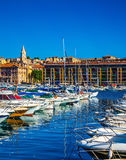The water area of Marseille Old Port Royalty Free Stock Photo