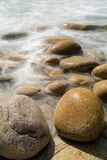 Water around Rocks, Porth Nanven, Cornwall royalty free stock photo